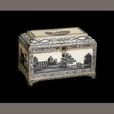 Enameled tea box