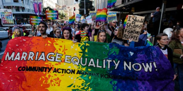 Australians Rally To Pressure Government On Marriage Equality Bill